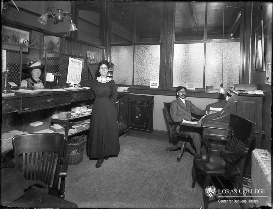Furniture store office, 1912