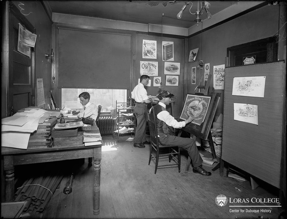 Dubuque Advertising Co., B&I Building, 1912