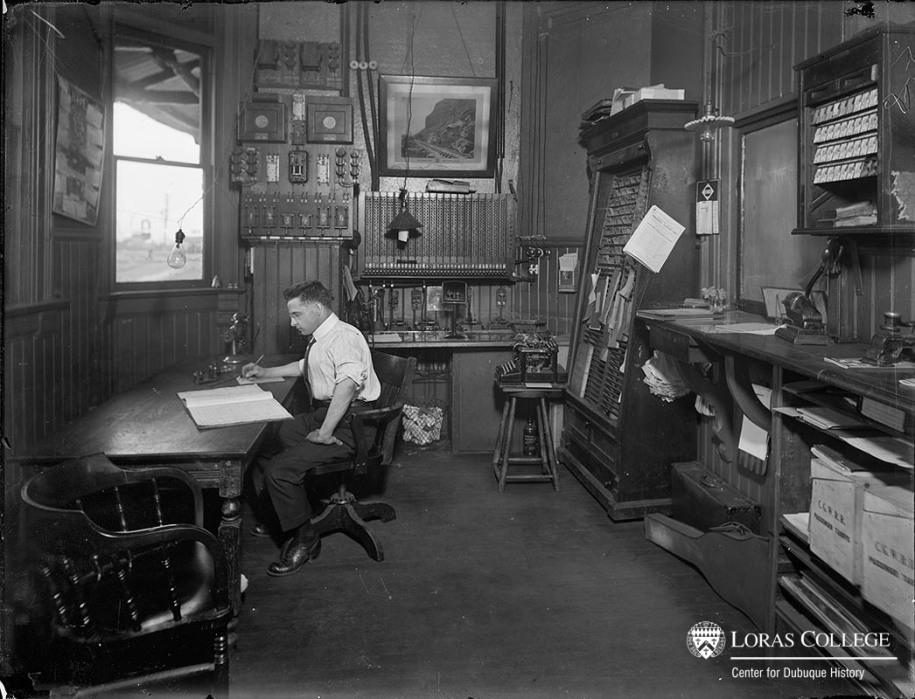 Depot office, 1912