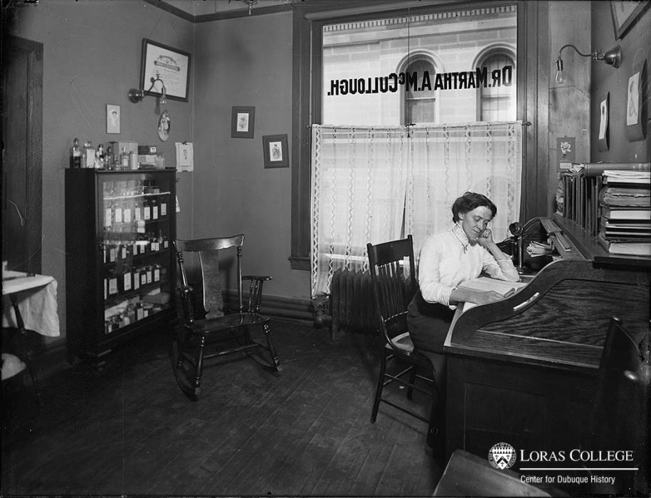 Dr. Martha McCullough, Rm. 414, B&I Building, 1912