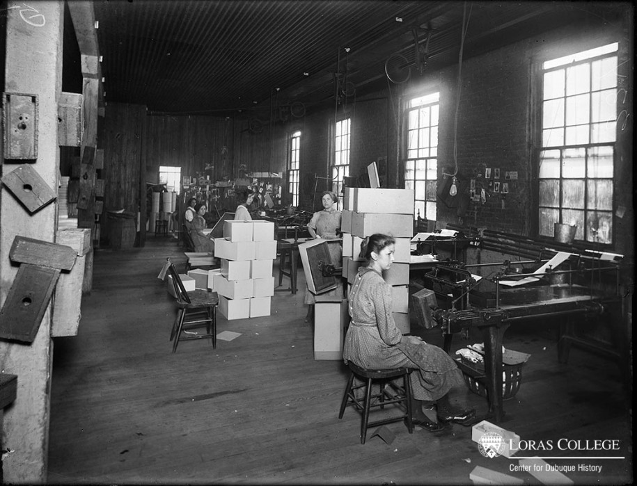 Box factory, 1912