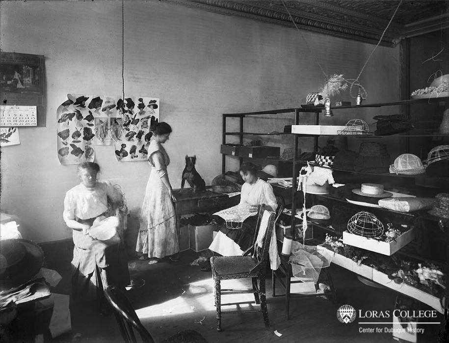Millinery workroom, 1912