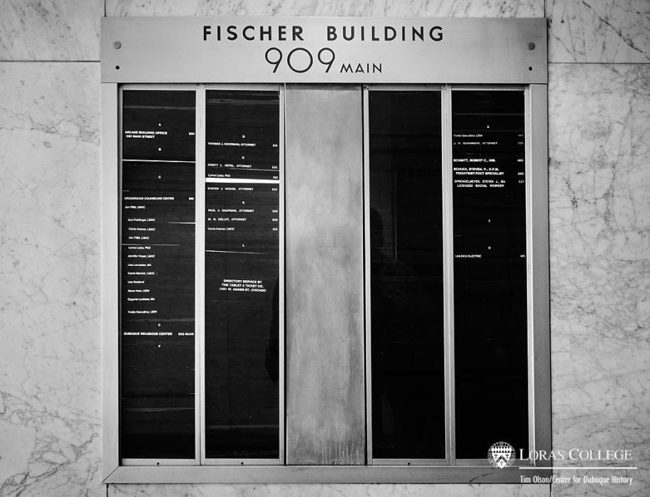 Fischer Building directory, 2012