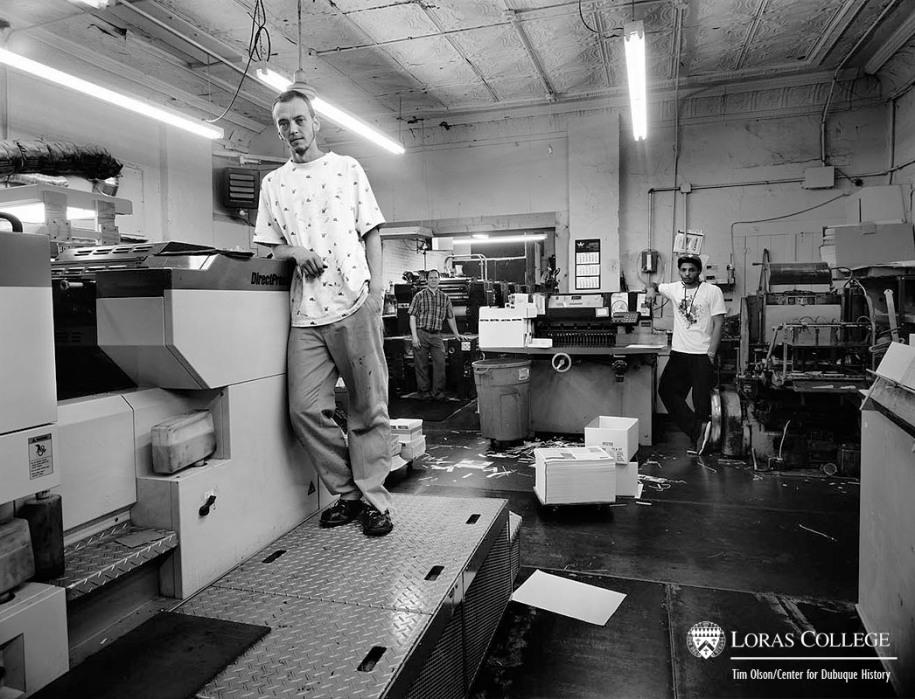 Scott Printing & Design print shop, 2012