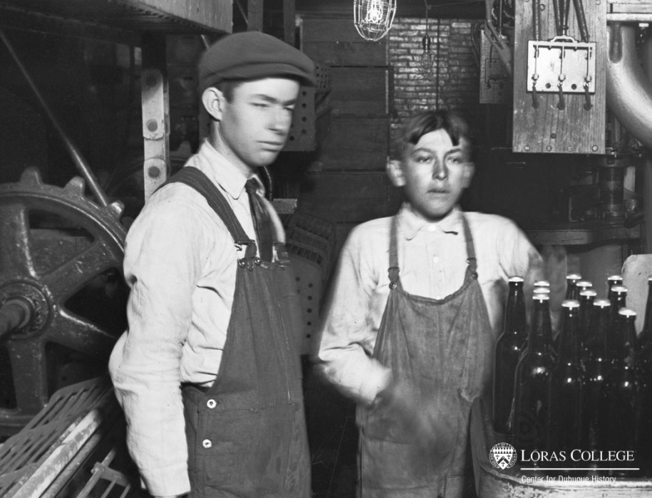 Boys working at the Dubuque Brewing and Malting Company