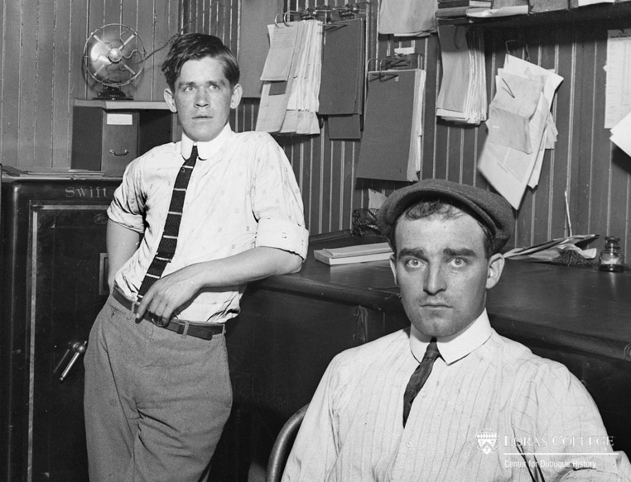 Men working at the Swift & Company office