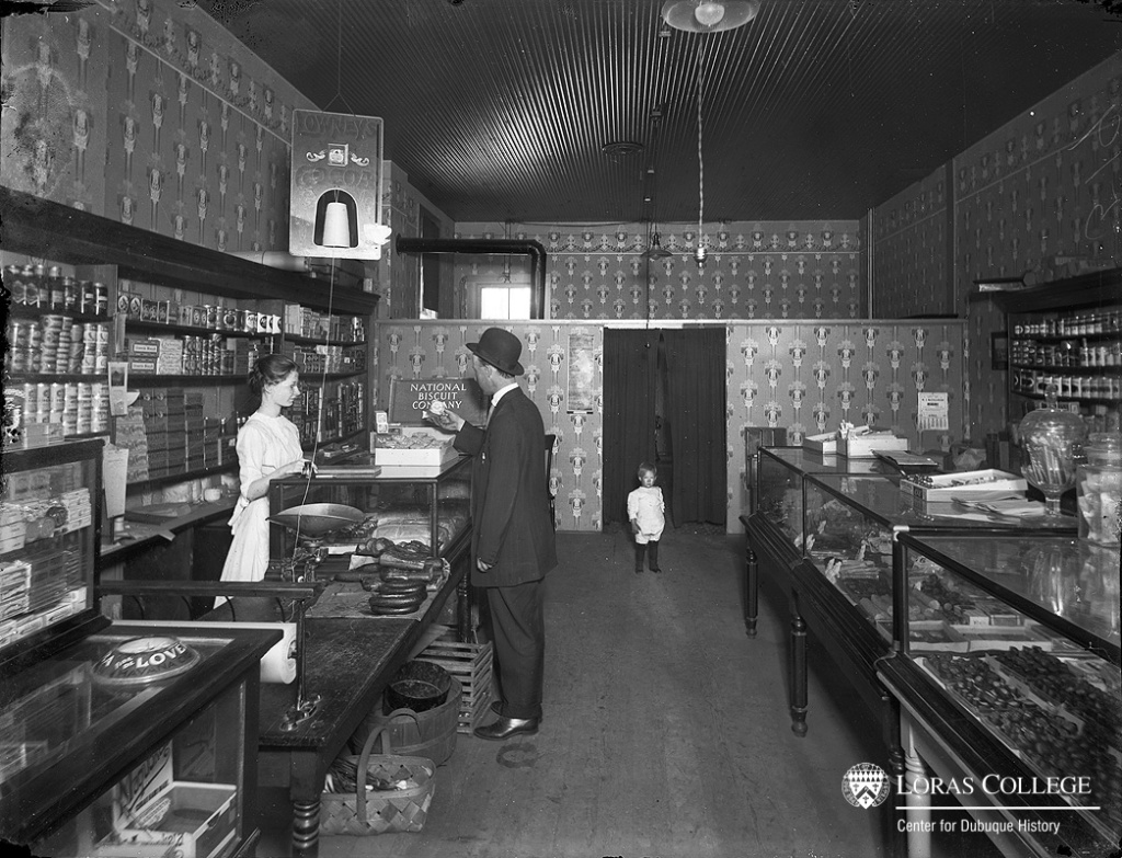 Clerking in a grocery store attached to her home allowed a woman to tend both to the customers and to her children. In 1912, a woman generally gave up her wage-earning activities when she married unless she helped run the family store or took boarders into her home.