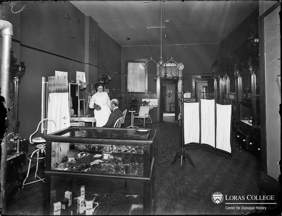 Women controlled the intimate world of the beauty shop. They might occasionally allow a man to enter this clean and orderly environment if he needed a toupee. (O'Donnell Sisters Beauty Shop)