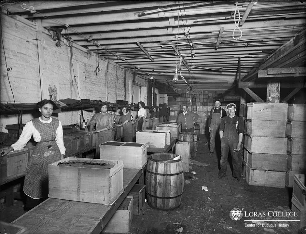 "For the most part, women worked with other women. Although women might work in the same shipping room, they held different jobs and received different wages. Wage surveys confirmed that ""a woman wasn't worth as much as a man."" (Beatrice Creamery, 1912)"
