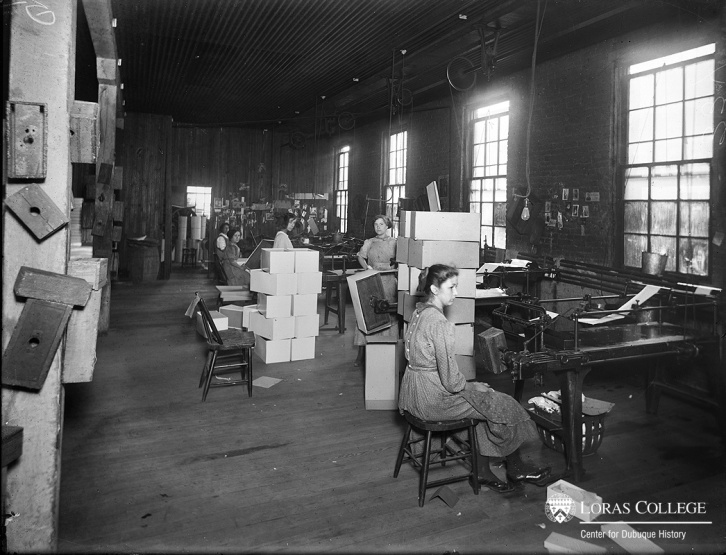 "As production moved from the home to the factor, employers hired women to inspect, label, package and tend machines. Even in light industry, women faced poor working conditions. One worker in a paperbox factory described ""the awful noise and confusion, the terrific heat, the foul smell of the glue, and the agony of … blistered hands."""