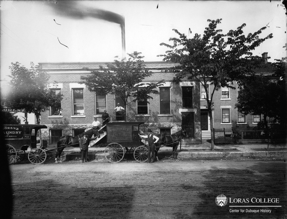 Lorenz Laundry, Dubuque, Iowa, 1912.