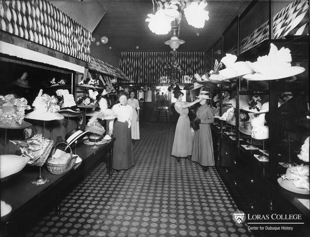 Women sought out millinery shops for employment because of the attractive working environment. (Ruprecht Brothers Company)