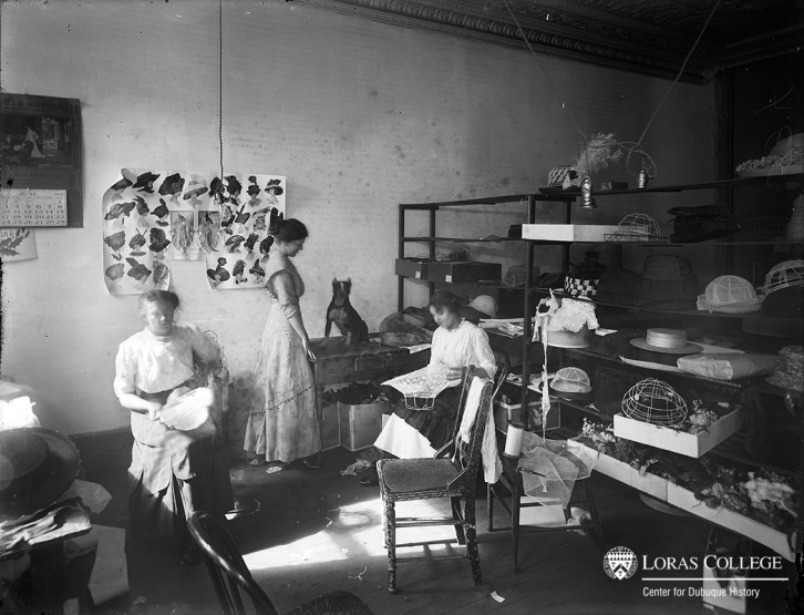 Millinery shop workroom.