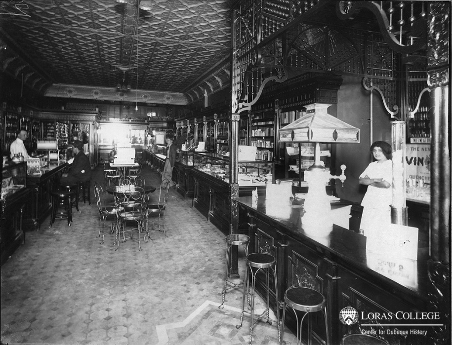 Women with few other options filled the service jobs at the soda fountains and the restaurants. (Adam Zillig's Drug Store)