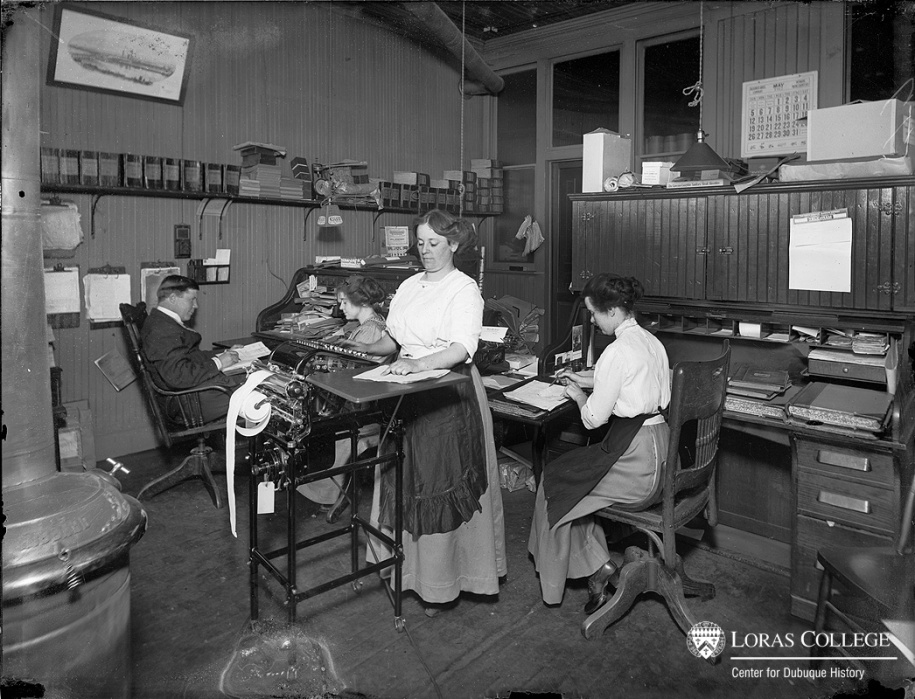 The breakdown of clerical work into routine, specialized jobs accompanied the movement of women and machines into the office. Male clericals left the offices as these changes occurred, leaving behind the problems of job segregation and low pay.